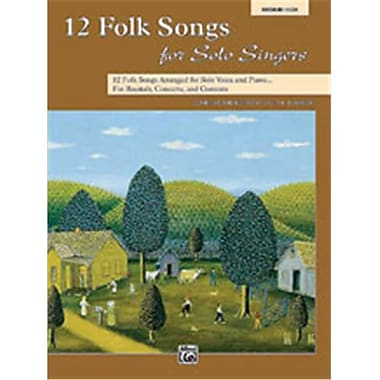Alfred 12 Folk Songs for Solo Singers - Music Book(ALFRD49250)