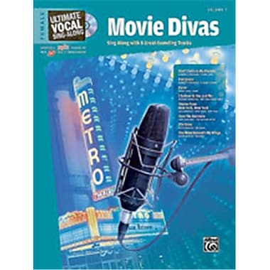 Alfred Ultimate Vocal Sing-Along- Movie Divas- Female Voice - Music Book(ALFRD49179)