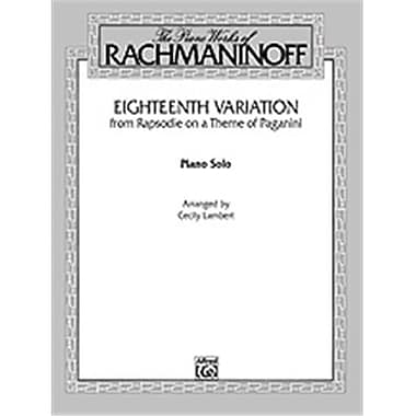 Alfred Eighteenth Variation- Rhapsodie on a Theme of Paganini - Music Book(ALFRD45194)
