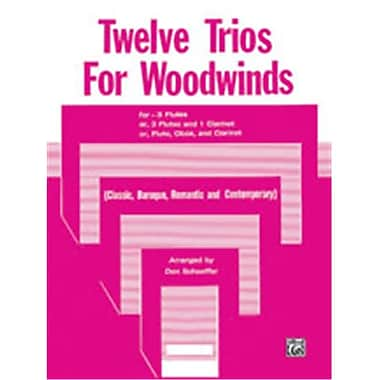 Alfred Twelve Trios for Woodwinds - Music Book(ALFRD50282)