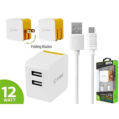 Cellet Universal Dual USB Home Charger, Orange, 4 ft.(CLET142)