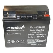 PowerStar 12V 15Ah Vision CP12180 Battery Replaces 18Ah PS-12180(BTJK10236)