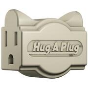 Hug-A-Plug DG1.S.1.0-IV Grounded Dual Outlet Single Plug - Ivory(HGPLG015)