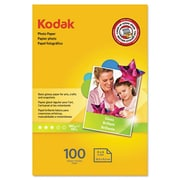 Eastman Kodak Film Photo Paper, 6.5 mil, Glossy, 4 x 6, 100 Sheets/Pack(AZERTY20018)