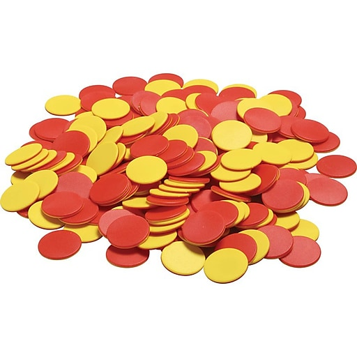 Didax Plastic Two-Color Counters, Red/Yellow, Grades K-8 (DD-2503)