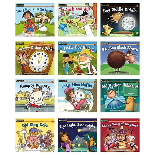 Newmark Learning Rising Readers 12 Titles Nursery Rhyme Tales 1 Single Copy Book Set, 12/Set