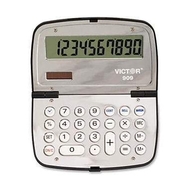 Victor Technologies 909 Handheld Compact Calculator, 10-Digit LCD(AZERTY21977)