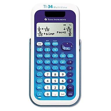 Texas Instrument TI-34 MultiView Scientific Calculator, 16-Digit LCD(AZERTY21850)