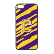 Carolines Treasures Tiger Stripe - Purple Gold Letter C Monogram Initial Iphone 5 Cover(CRLT18488)