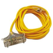 Coc 25 ft. Polar & Solar Outdoor Extension Cord, Three-Outlets - Yellow(AZTY03472)