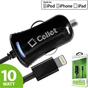 Cellet 10 Watt Lightning 8 Pin Ultra Compact, Super Fast Car Charger - Black(CLET099)