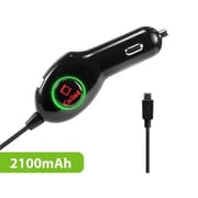 Cellet 2.1Ah High Powered Micro USB - Extra USB Port Car Charger(CLET047)