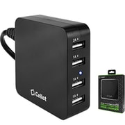 Cellet 4-Port Usb Desktop Charging Station & Travel Wall Charger - Black(CLET128)