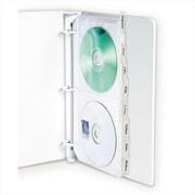 C-Line Products Deluxe CD Ring Binder Storage Standard with Index Tabs Stores 4 CDs 8-PK - Set of 3 PK(CLNP221)