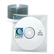 C-Line Products Individual CD-DVD Holders Clear 10-PK - Set of 5 PK(CLNP222)