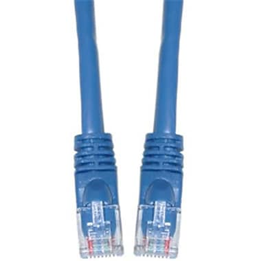 CableWholesale Cat6a Blue Ethernet Patch Cable Snagless Molded Boot 500 MHz 50 foot(CBLW806)