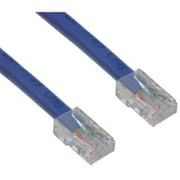 CableWholesale Cat5e Blue Ethernet Patch Cable Bootless 25 foot(CBLW556)
