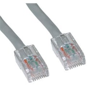 CableWholesale Cat5e Gray Ethernet Patch Cable Bootless 25 foot(CBLW525)