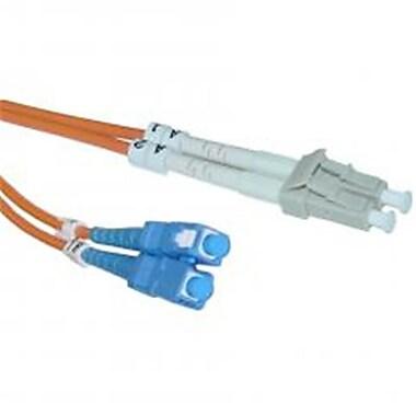 CableWholesale Fiber Optic Cable LC SC Multimode Duplex 62.5-125 5 meter (16.5 foot)(CBLW251)