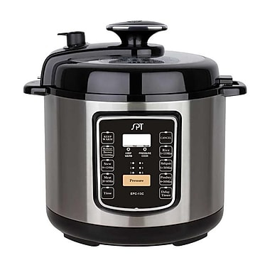 Sunpentown 6.5-Quart Stainless Steel Electric Pressure Cooker with Quick Release Button(SUPN463)