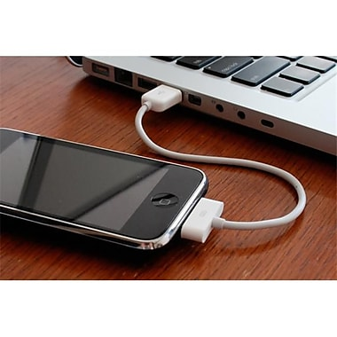 CableJive iPhone, iPod, or iPad Sync 7cm White Cable(CBJV013)