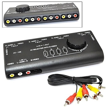 IKKEGOL 4 in. 1 AV Audio Video Signal Switcher S-Video Selector with RCA Cable(IKGL069)