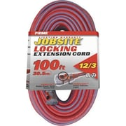 Prime Red & Blue Jobsite Locking Extension Cord, 100 ft.(JNSN78865)