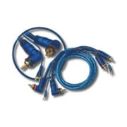 XSCORP 12 ft. Right Angle Triple Shielded RCA Cables with Remote Turn-On Wire(WHSL2889)