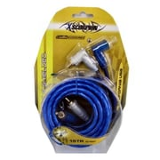 XSCORP 15 ft. Right Angle Tiple Shielded RCA Cables with Turn On Wire(WHSL4028)