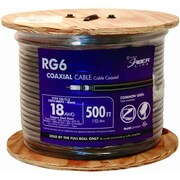 Southwire 500 ft. Black RG6 Coaxial Cable, Pack of 500(JNSN80913)