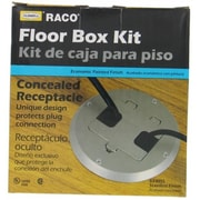 Hubbel Electric Raco Stainless Steel Concealed Receptacle Floor Box Kit(JNSN40105)