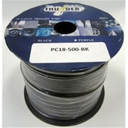 AVOX ELECTRONICS INC 500 Feet 18 Gauge Colored Stranded Primary Connection Wire - Black(TBALL8117)
