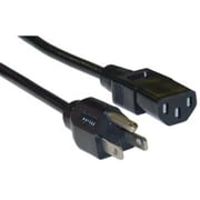 CableWholesale Computer-Monitor Power Cord Black NEMA 5-15P to C13 10 Amp UL CSA rated 25 foot(CBLW1007)
