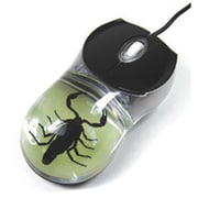 ED SPELDY EAST Computer Mouse Glow in the Dark Black Scorpion(ESE595)