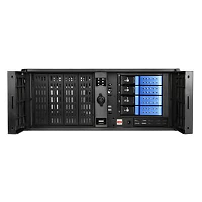 iStarUSA 4U Compact Stylish Rackmount 4 x 3.5 In. Trayless Hotswap Chassis, Blue(ISTR219) 24001709