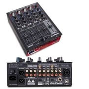 FIRST AUDIO MANUFACTURING Professional Compact 4 Channel USB DJ Mixer with Multiple Photo Line and Mic Inputs(TBALL10252)