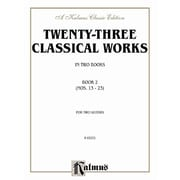 Alfred Twenty-three Classical Works for Two Guitars- Book 2 - Music Book(ALFRD33346)