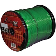 AUDIOP 18 Gauge 500 ft. Spool Car Audio Remote Wire - Green(WHSL1768)