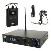 Pyle 93598931M In-Ear Monitor & Receiver System, Stage Performance Selectable Audio Frequency Kit Black