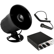 Pyle 93598682M Siren Horn Speaker System with Handheld PA Microphone Black