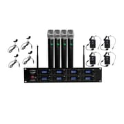 Pyle 93598923M 8-Channel Wireless Microphone & Receiver System Black