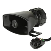 Pyle 93598680M Siren Horn Speaker System with Handheld PA Microphone Black