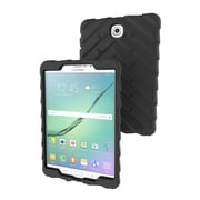 """DropTech Silicone Back Cover for 8"""" Samsung Galaxy S2 Tablet, Black"""