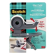 Scotch™ Clip & Twist Desktop Tape Dispenser, Gray (C19-CLIP)