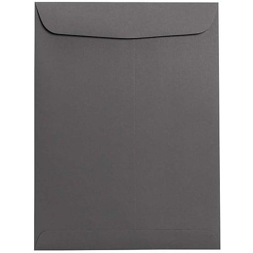 JAM Paper® 9 x 12 Open End Catalog Envelopes, Dark Grey, 100/Pack (21285783)