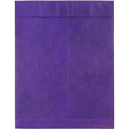 JAM Paper® 10 x 13 Tyvek Tear-Proof Open End Catalog Envelopes, Purple, 25/Pack (V021382)