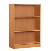 "Mylex Three Shelf Bookcase 24.5""W x 9.5""D x 35.5""H Oak (43000)"