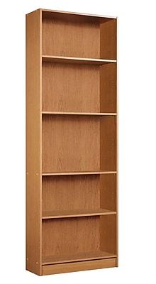 Mylex Five Shelf Bookcase 245w X 95d X 715h Oak 43010 Staples