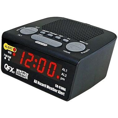 QFX All Hazard Weather Alert Clock Radio Black (93592195M)