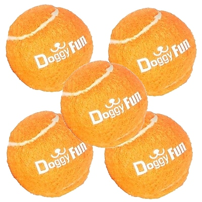 SereneLife SLDGFN5 Replacement Dog Fetch Toy Balls Orange 5Pack (93599482M)
